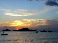 coucher de soleil sur les îlets